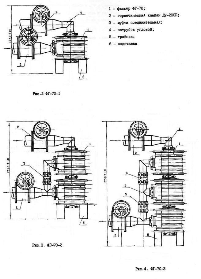 Монтажные детали к ФГ-70
